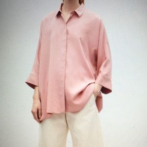 COS dusty rose boxy top